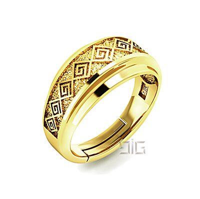 """Ring """"Diagonals meander"""""""