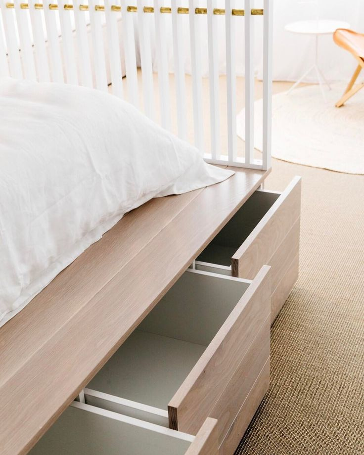 Clever storage ideas for small spaces - custom bed with under bed storage.