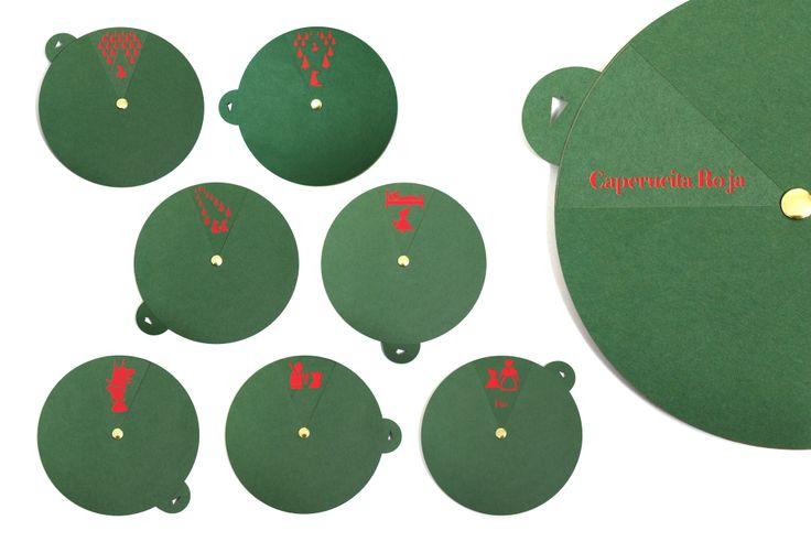 """Cuento de """"Caperucita roja"""" ilustrado en cartulina, cortado con láser. Story by laser-cut. Papel. Corte láser. Cuento."""
