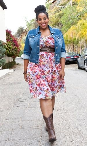 plus size floral print chiffon dress at www.curvaliciousclothes.com Sizes 1X-6X Take this dress from day to night and back. Pair it with cute flats or your favorite boots for day, and at night some sky-high wedges or sandals! Layer it with our Drew Denim Jacket