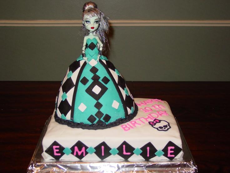 Monster High Doll Cake Ideas