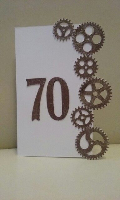 Card for men 70
