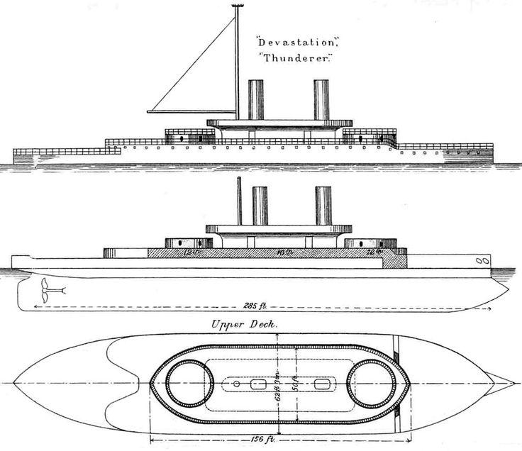 Devastation class diagrams Brasseys 1888 - HMS Thunderer (1872) - Wikipedia