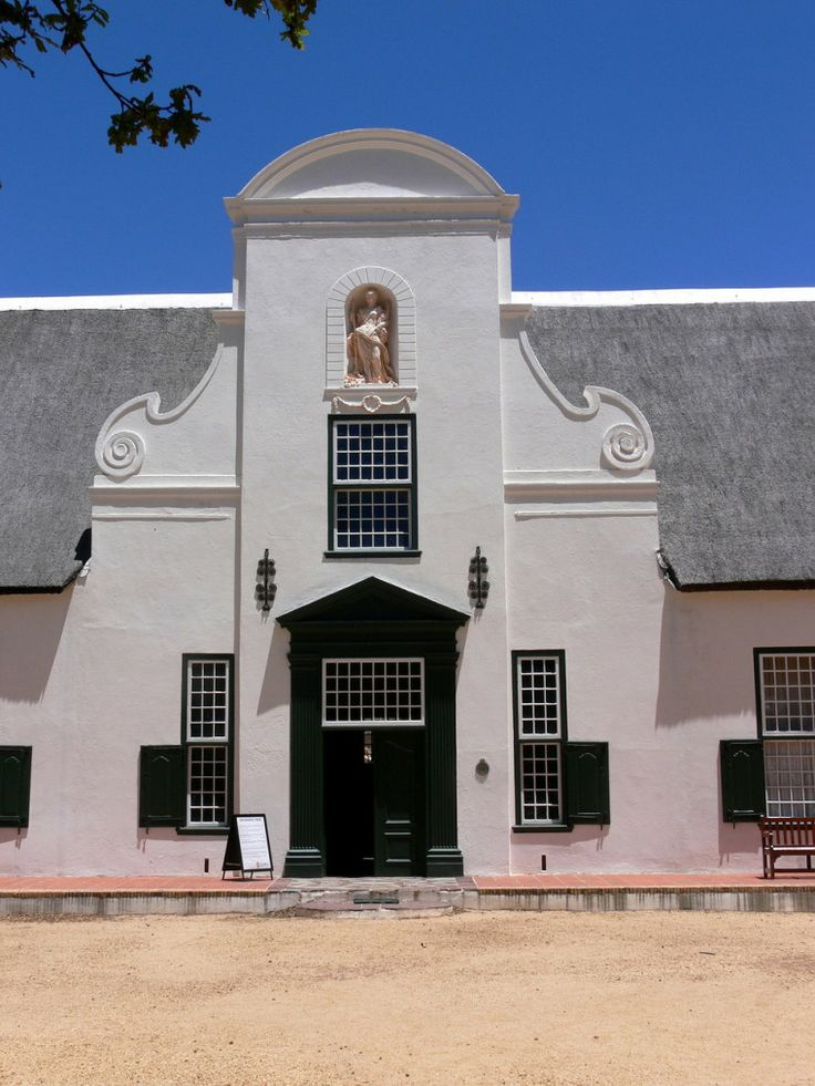 Cape dutch architecture at Groot Constantia Wineries in Cape Town