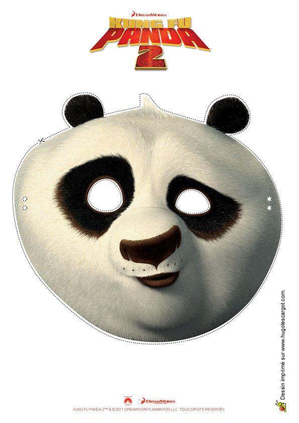 Un masque très drôle de Kung-Fu Panda à découper.