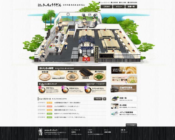 宮崎名物うどん専門店 きっちょううどん - http://www.kitchouudon.com/