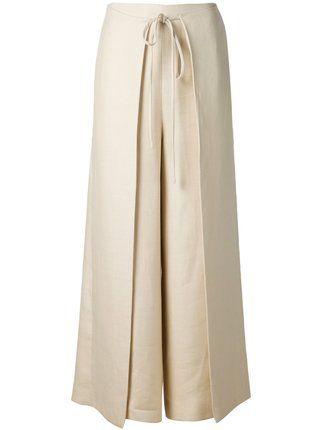 Rosetta Getty Calça pantalona de linho