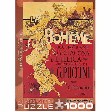 EuroGraphics La Boheme Puccini 1000-Piece Puzzle, Multicolor