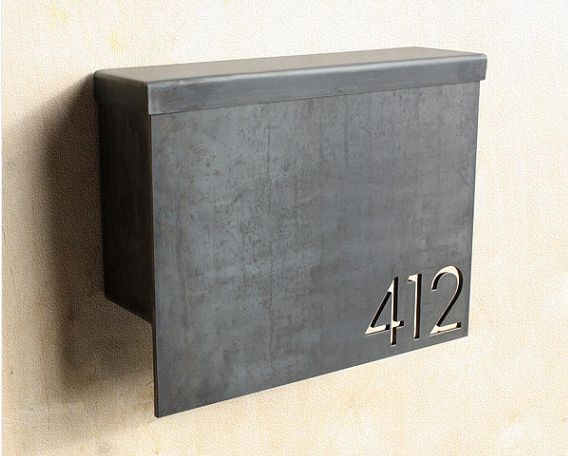 Metal modern mail box with address letters cut into the face. Dun4Me is the marketplace for custom made items built to your exact specifications by talented makers. Get bids for free, no obligation!