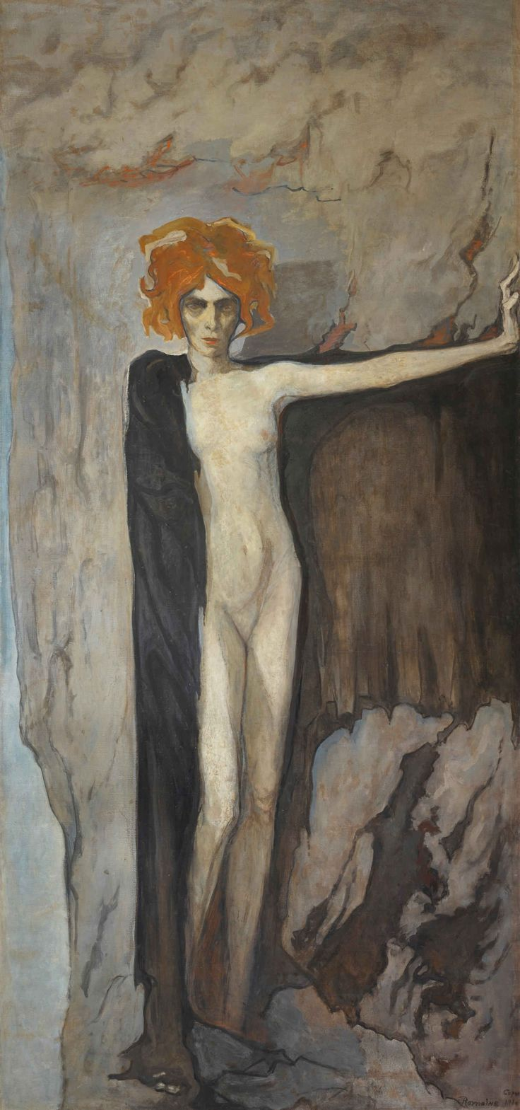 Portrait of Marchesa Luisa Casati, 1920 by Romaine Brooks, (American expatriate artist, 1874-1970)