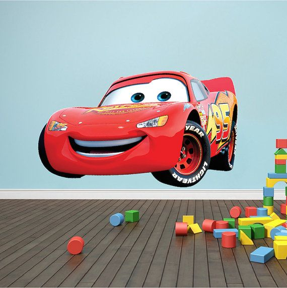 Lightning McQueen Cars Decal Cars Wall Decal By PrimeDecal On Etsy