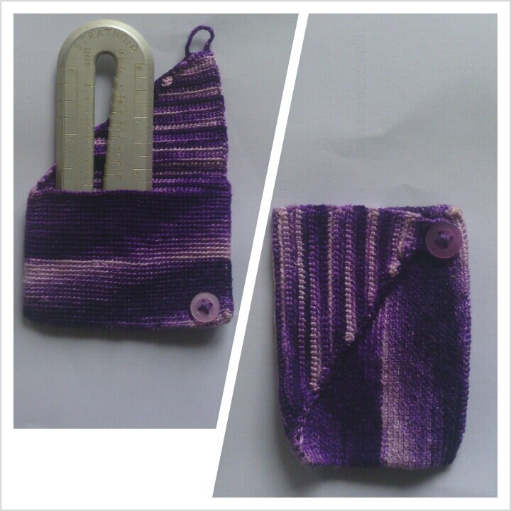crochet credit card holder