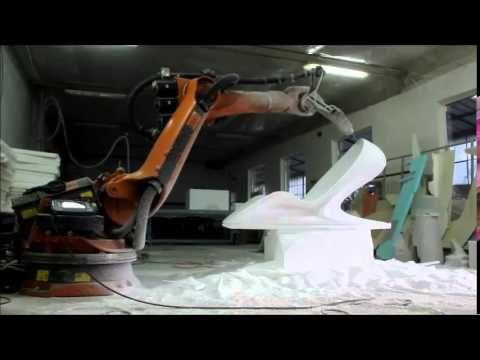 Chair prototype by Krasimir Boshev: #KUKA robot CAD/CAM milling offline programmed by #SprutCAM
