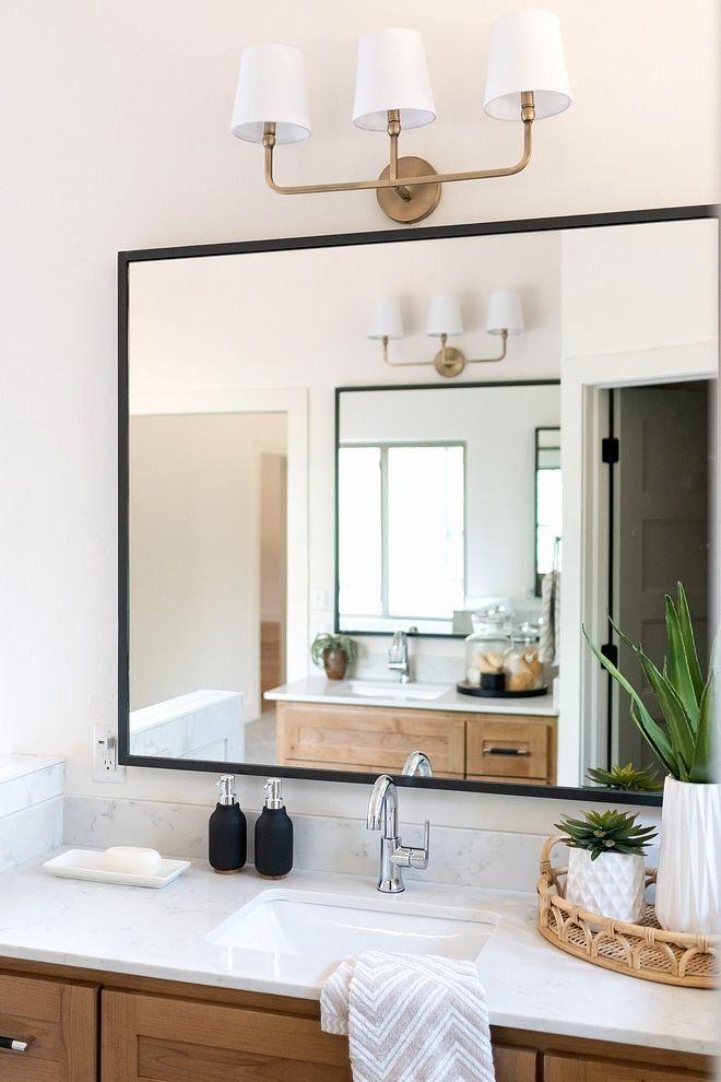 Black Frame Bathroom Mirror Luxury Bathroom Mirror Modern Farmhouse Bathroom Mirror Wi In 2020 Modern Farmhouse Bathroom Modern Bathroom Mirrors Bathroom Mirror Design