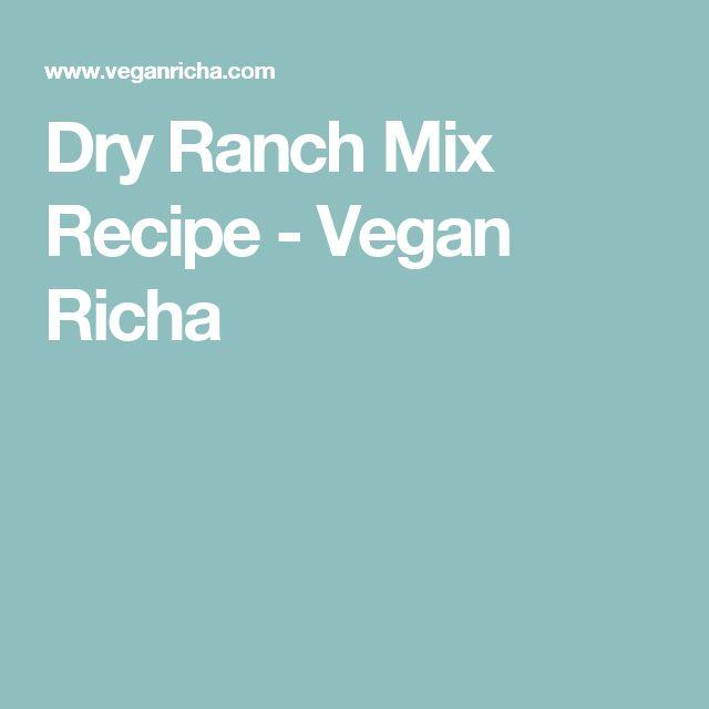 Dry Ranch Mix Recipe - Vegan Richa