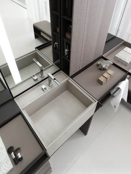 ♂ Contemporary clean minimalist interior design neutral bathroom