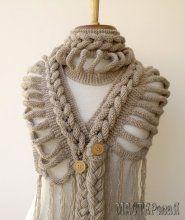 Шикарный шарф (вязание спицами)