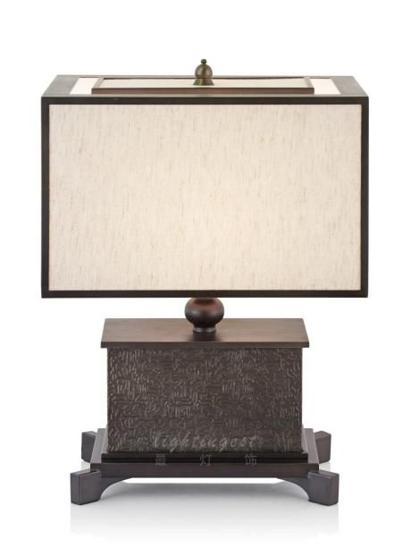New Chinese style example room desk lamp【最灯饰】新中式高端酒店会所样板房客厅书房床头台灯