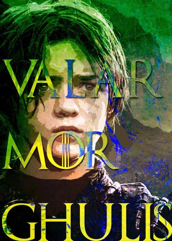Valar Morghulis Game of Thrones Poster by Scar Design #gameofthrones #aryaposter #yalarmorghulis #valarmorghulisposter #gotposter #gameofthronesposter #wallart #homedecor #aryaposter #aryastarkposter #fantasy #gifts #giftsforhim #giftsforher #stark #housestark