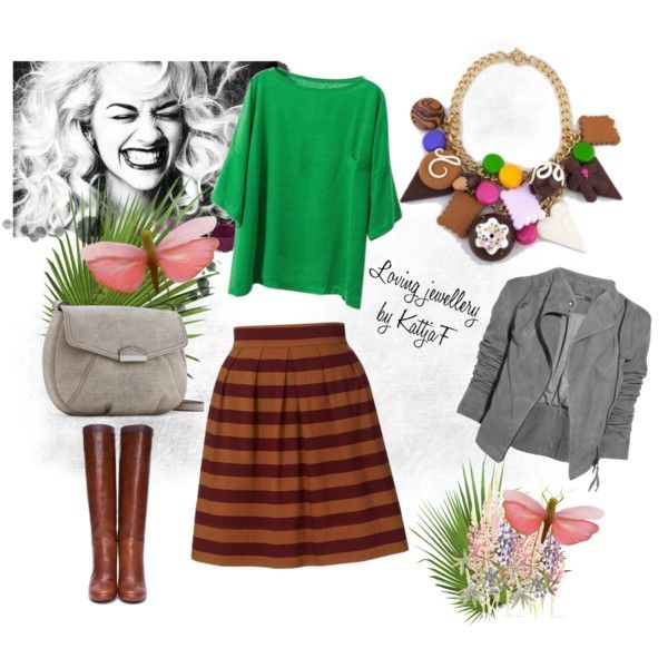 """sweet necklace and colorful energy :-)"" by kattjaf on Polyvore"