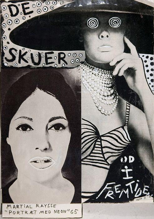 """Albert Mertz - De skuer, Martial Raysse """" Portraet med Neon """", 1965"""