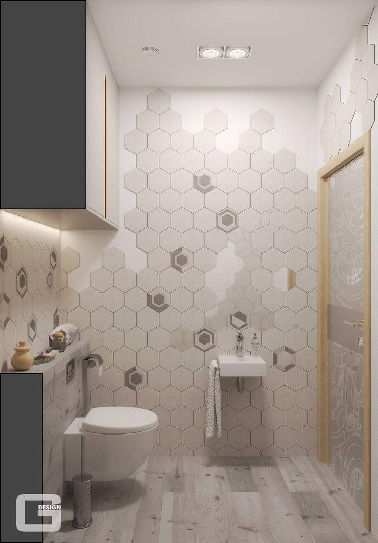 Квартира для молодого парня в скандинавском стиле : Ванная комната в скандинавском стиле от Giovani Design Studio
