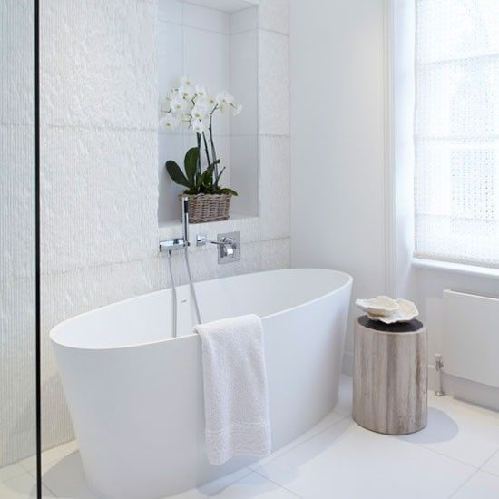 Stunning textured bath tiles