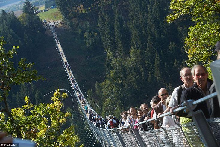 Geierlay - Najdłuższy wiszący most w Niemczech