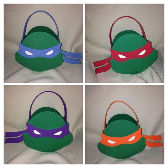 ninja turtles inspired party bags favors by titaspartycreations