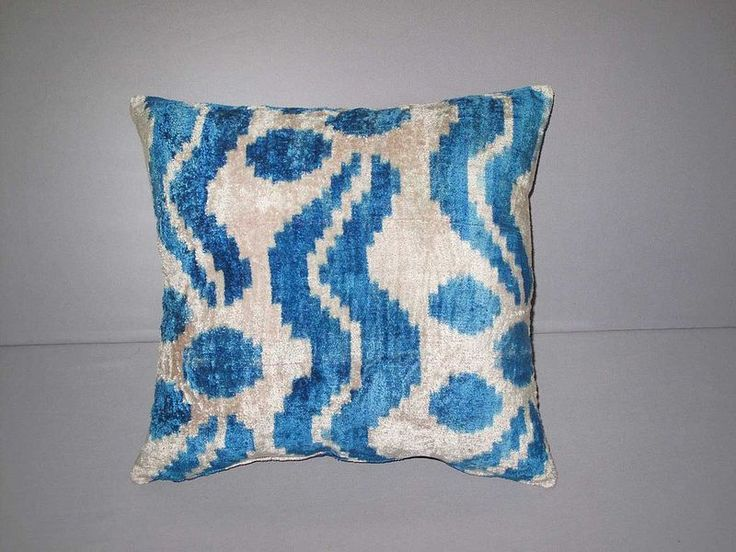 Cushion Covers – Velvet ikat silk interior pillowcase – a unique product by Eastern-gifts on DaWanda