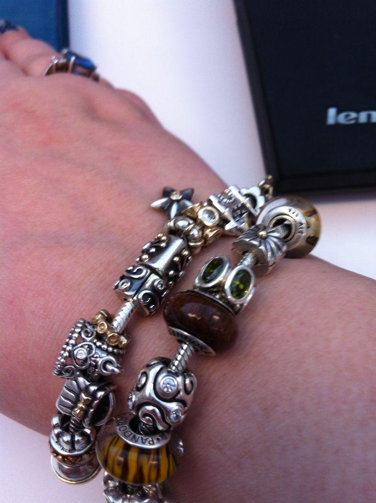 Pandora bracelets stacked. #Pandora | Pandora charms and ...