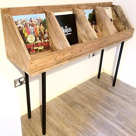Vinyl Record Storage Record Stand Record Holder Book Stand Etsy Vinyl Record Storage Record Storage Vinyl Record Storage Diy