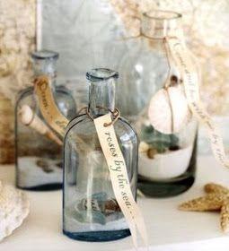 decorate bottles beach style