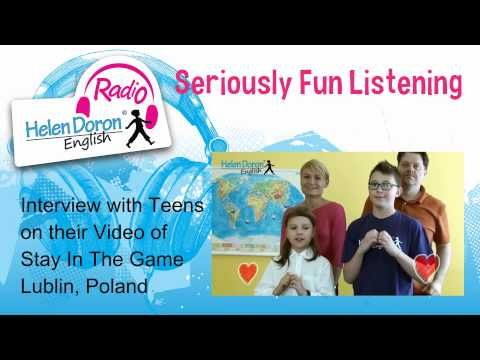 """Interview with Lublin, Poland Helen Doron Teen English Students on their Successful Video, """"Stay in the Game""""!  #teenenglish   #englishasasecondlanguage  #ESL   #EFL"""