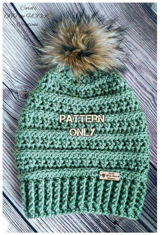 Hey, I found this really awesome Etsy listing at https://www.etsy.com/listing/553096566/crochet-hat-pattern-crochet-beanie