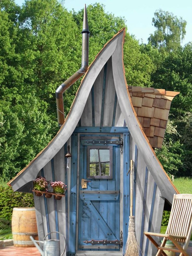 17 best Cabane images on Pinterest Witch cottage, Garden houses - Maisonnette En Bois Avec Bac A Sable