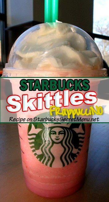 Taste the rainbow with our Skittles Frappuccino! #StarbucksSecretMenu