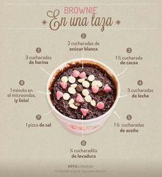 Brownie en taza                                                       …
