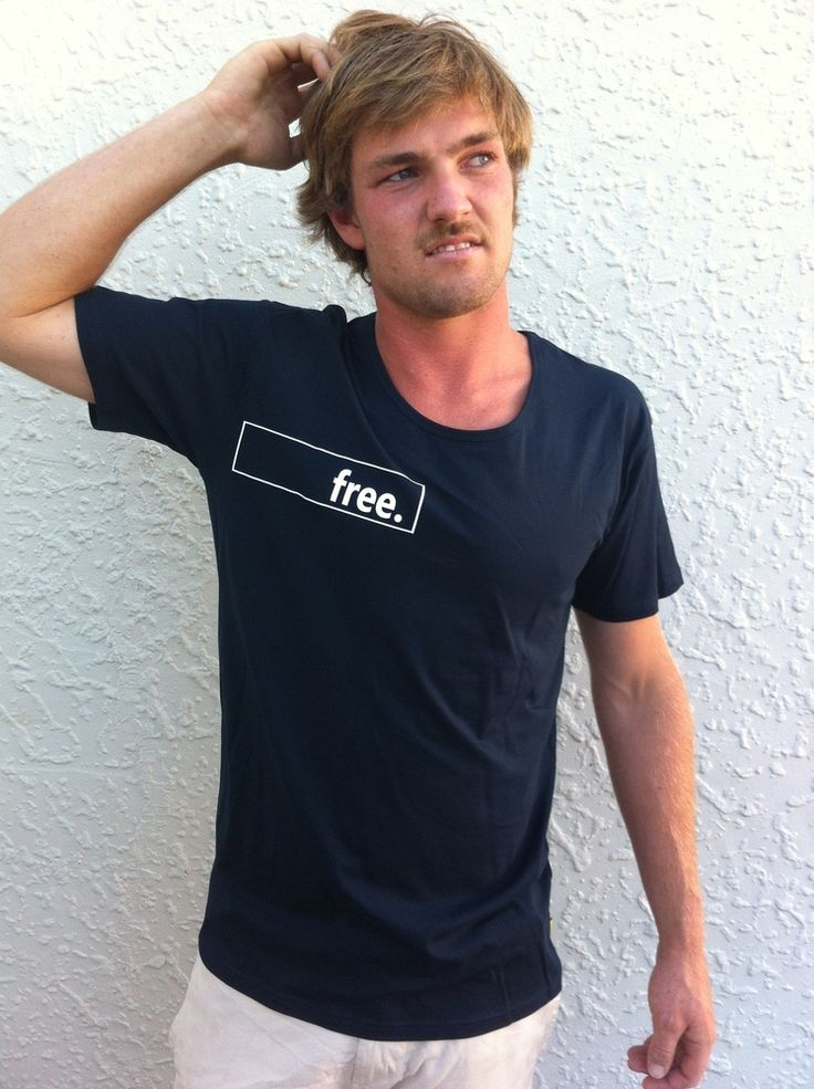 The name says it all, a navy blue tee with the free. band across the chest and under the arm pit.made of 100% cotton.