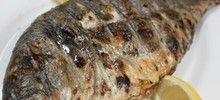Ψάρι φαγκρί ψητό στη σχάρα στα κάρβουνα