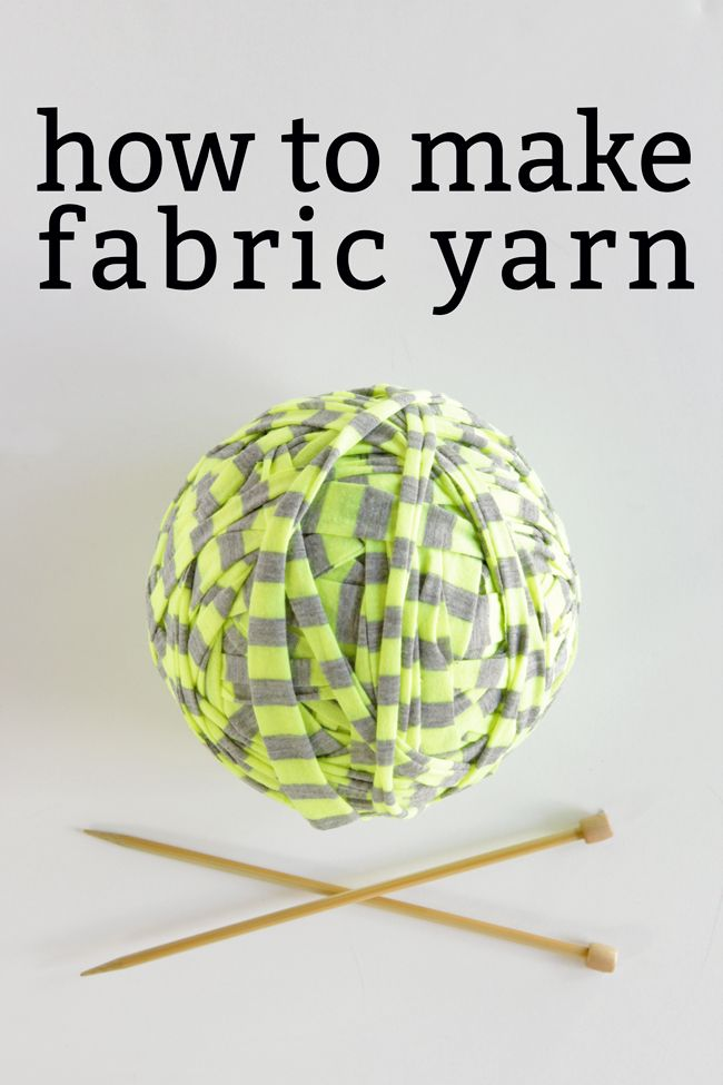 How to Make Fabric Yarn at handsoccupied.com. Cutting off the selvage of the fabric is important if you use yardage.