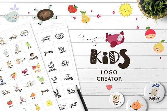 Logo creator for kids by Magic & Dreams on @creativemarket https://crmrkt.com/6jOrkg