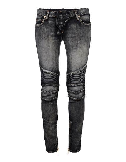 Denim- BALMAIN jeans #fashion #womens