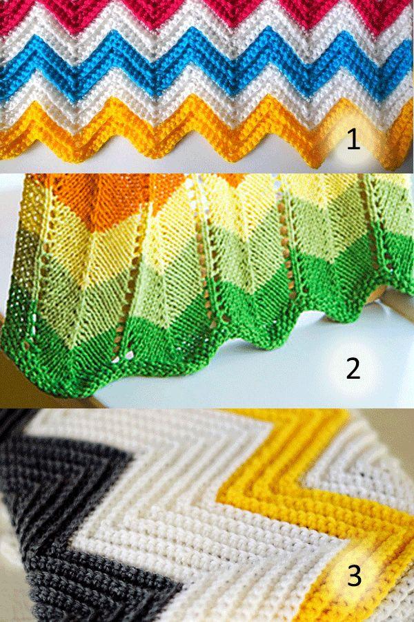 Perfecto Patrón De Crochet Manta Ondulado Ornamento - Manta de Tejer ...