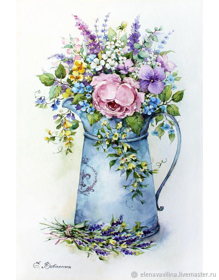 рисуем открытку с цветами доска