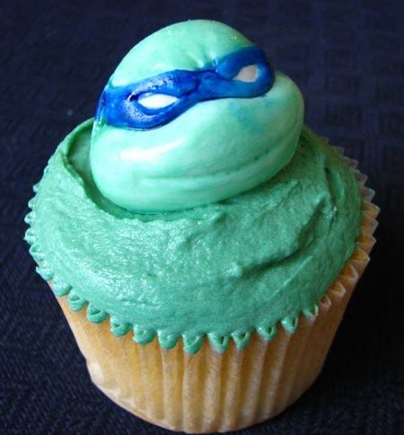 I gotta make this for my bf one day...he loves the ninja turtles! lol: Cupcakes Ideas, Ninjas Turtles Cupcakes, Creative Food Art, Parties Ideas, Ninja Turtle Cupcakes, Tmnt Cupcakes, Ninja Turtles, Photo, Cupcakes Rosa-Choqu