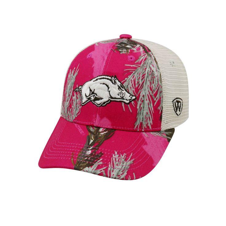 Adult Top of the World Arkansas Razorbacks Doe Camo Adjustable Cap, Women's, Med Pink