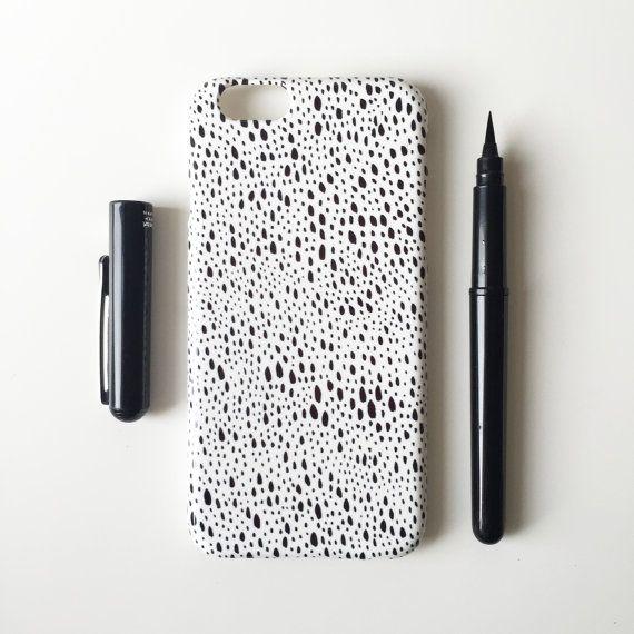 Regentag Handy Case / schwarz-weiß Phone Case / abstrakt / iPhone 6 s / iPhone 6 / iPhone SE / iPhone 5/5 s / iPhone 5C / Samsung Galaxy S6 /