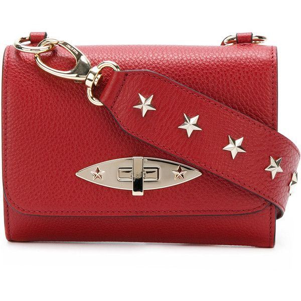Red Valentino shoulder bag with stars ($590) ❤ liked on Polyvore featuring bags, handbags, shoulder bags, torbe, red, red valentino, red purse, red shoulder bag, shoulder hand bags and star purse
