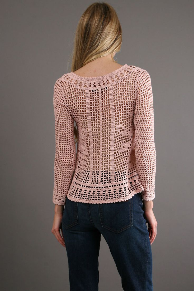 Trendy crochet tunic PATTERN HQ filet grid от CONCEPTcreative